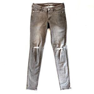 'Rockstar' Old Navy Ripped Size 4 Gray Skinny Jean